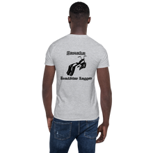 Load image into Gallery viewer, BAS Yamaha Road Star Bagger Short-Sleeve Men's T-Shirt - Backyard Air Suspension & Innovations, LLC.