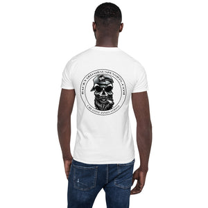 Bearded Skull With Cigar White Men's T-Shirt - Backyard Air Suspension & Innovations, LLC.