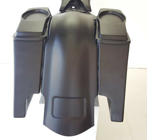"Harley 6"" Stretched Fender Saddlebags 6x9 Lids - Backyard Air Suspension & Innovations, LLC."