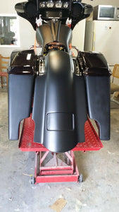 "Harley 5"" Stretched Fender Saddlebags Lids - Backyard Air Suspension & Innovations, LLC."