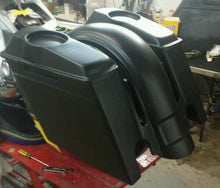 "Load image into Gallery viewer, Harley 6"" Rear CVO Style Fender Saddlebags 6.5 Lids - Backyard Air Suspension & Innovations, LLC."