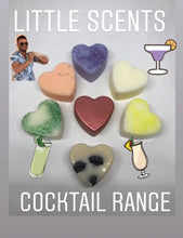 Load image into Gallery viewer, 5 Pack of Cocktail Scented Heart Melts