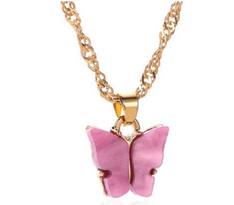 Hush of Blush Butterly Necklace