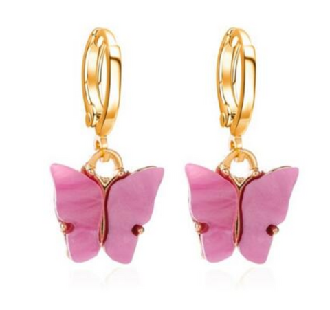 Hush of Blush Butterfly Earrings