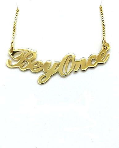 Curved Two Capital Letters Nameplate Necklace