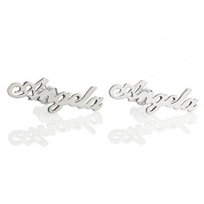 Nameplate Earrings
