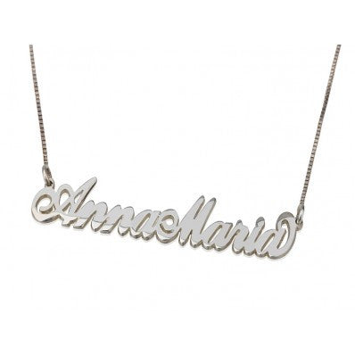 Nameplate Necklace Two Capital Letters