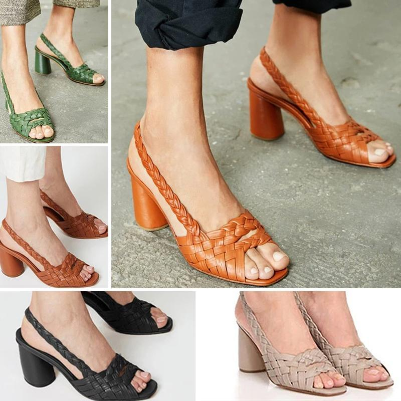 Women Elegant Chunky Heel Sandals