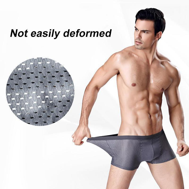 Mens Breathable Ice Silk Boxer