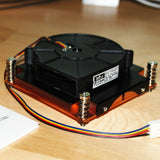 Solid Copper Turbo Fan Radiator cpu heatsink cooler for Peltier, LED up to 200W