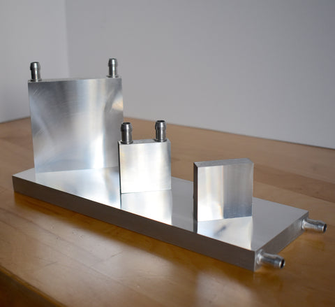 Aluminum water block; 40mm, 80mm, 240mm