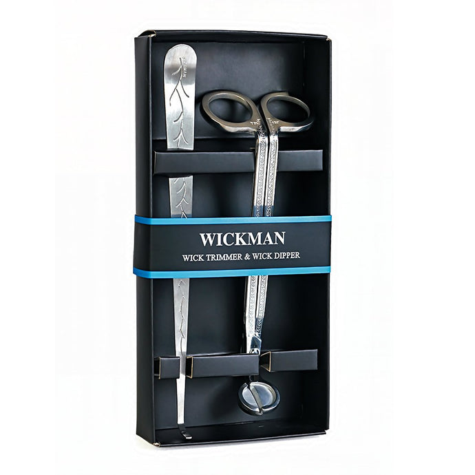 Silver Wick Trimmer and Wick Dipper Gift Set