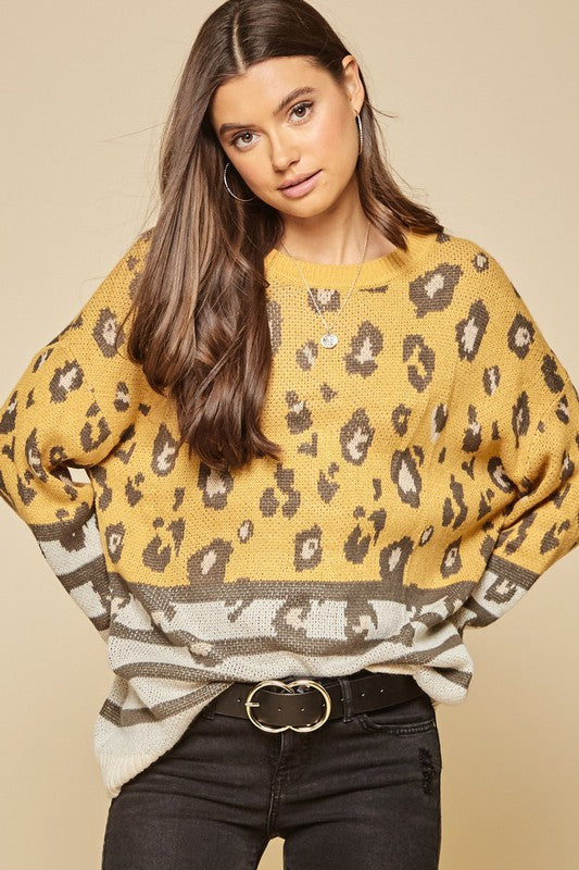 Falling For Leopard Sweater