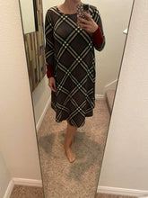 Load image into Gallery viewer, Checked Sweater Dress