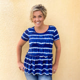 Tie Dye Relaxed Ruffle Top