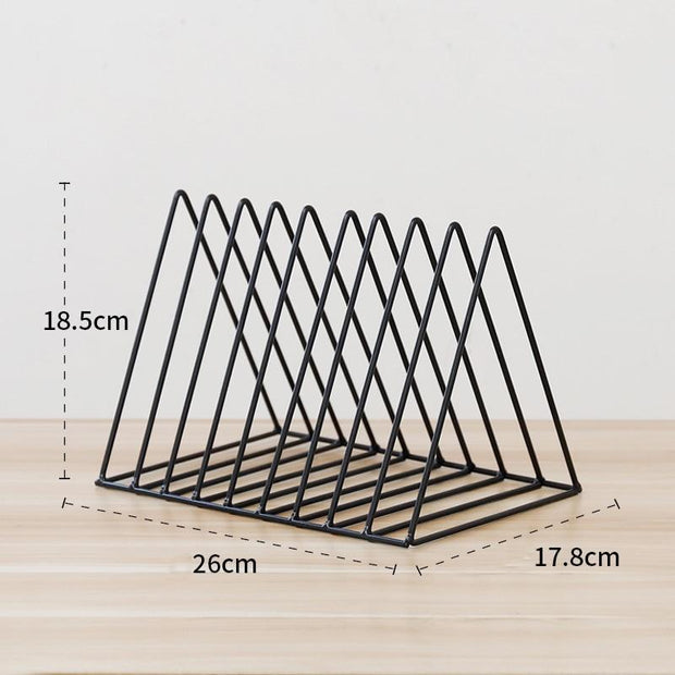 Nordic Geometric Book Rack