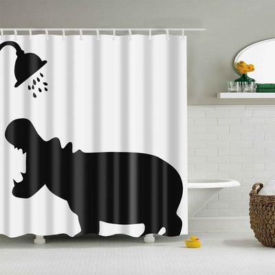 Hippo Shower Curtain