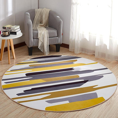 Round Contemporary Rug - Hermansson