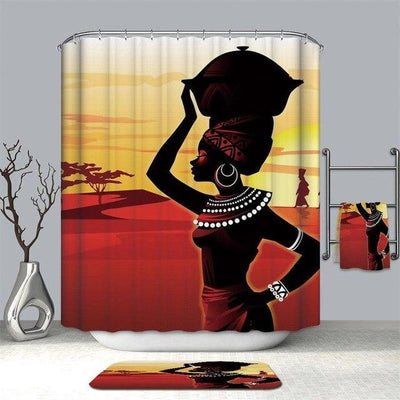 African Sunset Shower Curtain