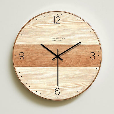 Two Toned Wooden Wall Clock