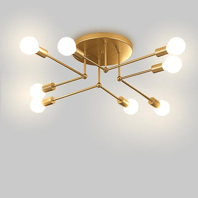 "Nordic Gold Double ""X"" Pendant Light"