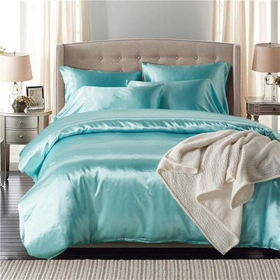 Nordic Silk Bedding Set - Gainsboro