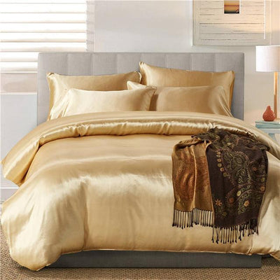 Nordic Silk Bedding Set - Gold