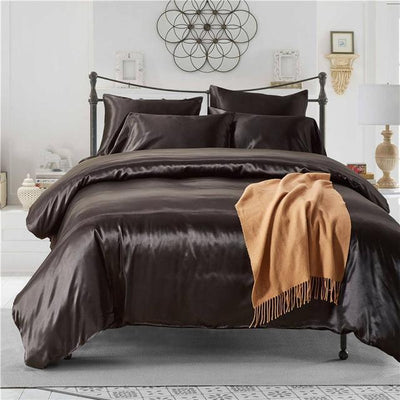 Nordic Silk Bedding Set - Dark Slate Grey