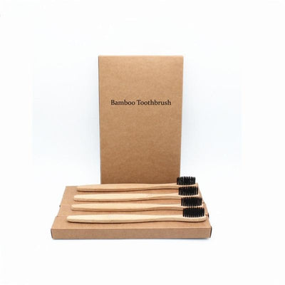 Wooden Toothbrush (4 Piece Set)