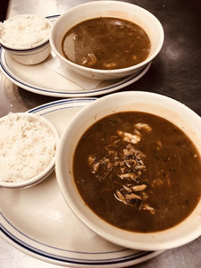 Bowl of Chicken and Sausage Gumbo  + Steamed Rice