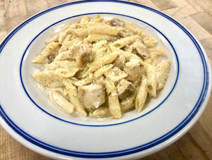 Blackened Chicken Penne Alfredo