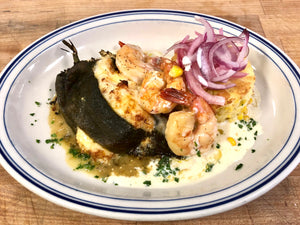 Spicy Shrimp and Crab Naked Poblano