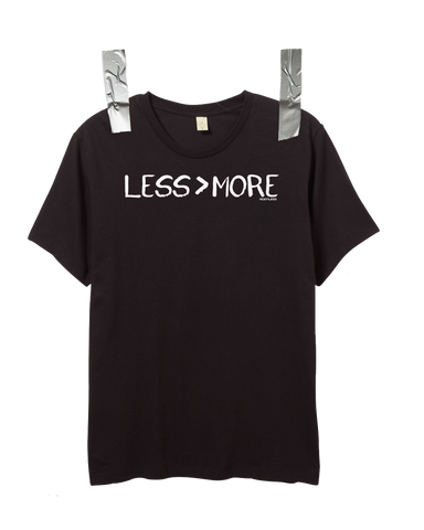 """LESS > MORE"" Men's Crew Neck • Black"