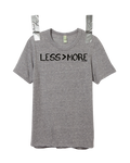 """LESS > MORE"" Unisex Vintage Crew • Grey"