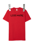 """LESS > MORE"" Men's Crew Neck • Red"