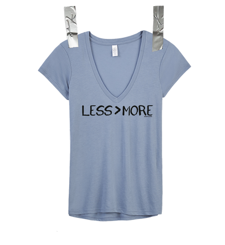 """LESS > MORE"" Women's V-Neck • Stone"