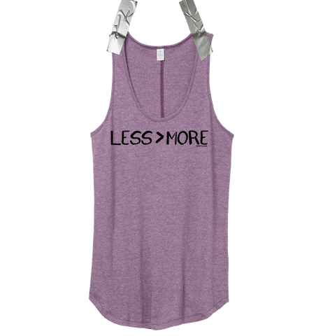 """LESS > MORE"" Women's Tank Top • Iris"