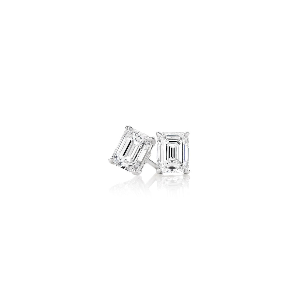 Emerald Cut Earring Studs