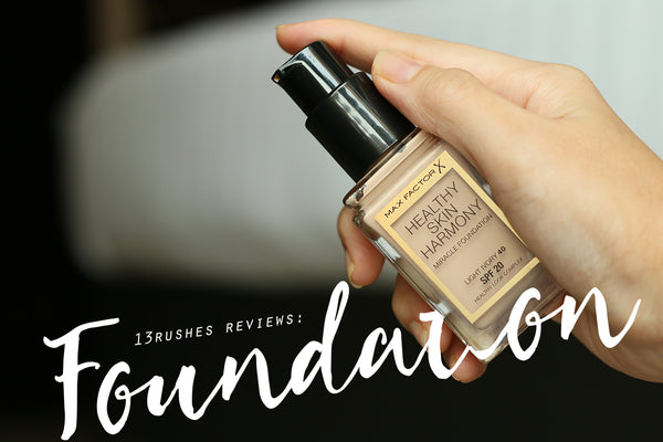 13rushes reviews: Max Factor's Healthy Skin Harmony Foundation