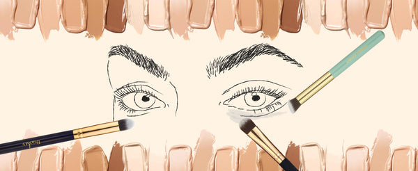 Make-up Brushes that will help you say good bye to your dark eye circles.