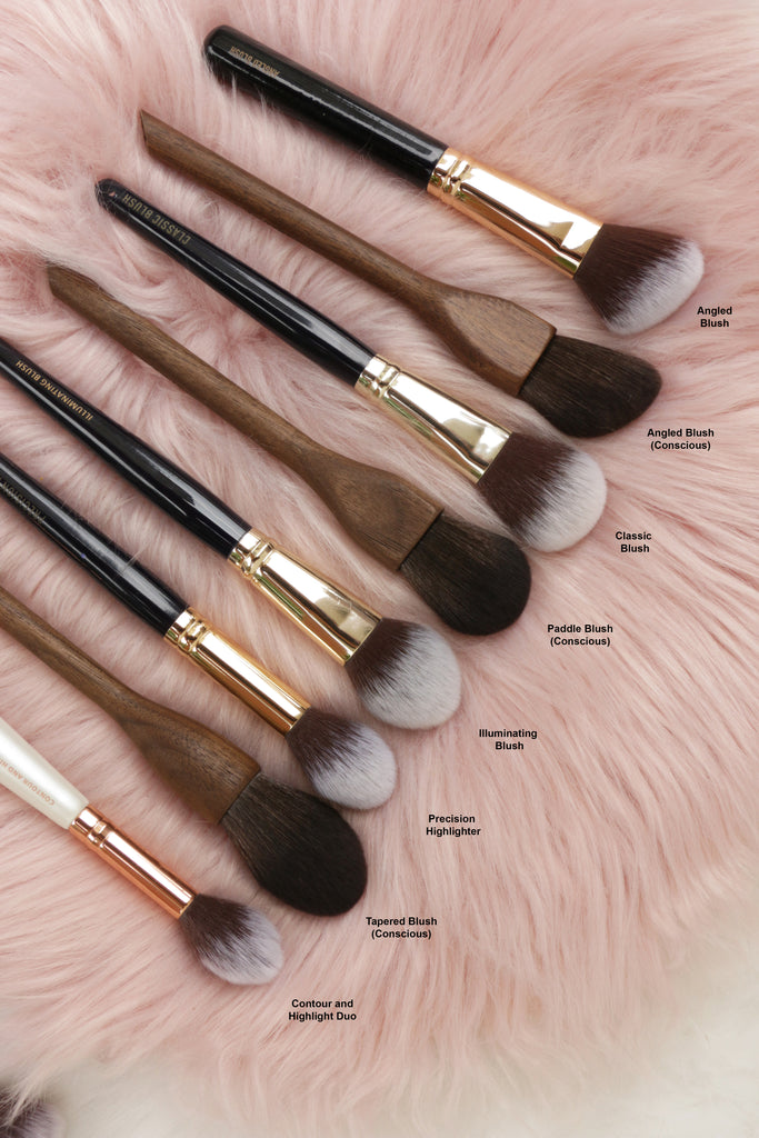 13rushes blush and highlight brushes