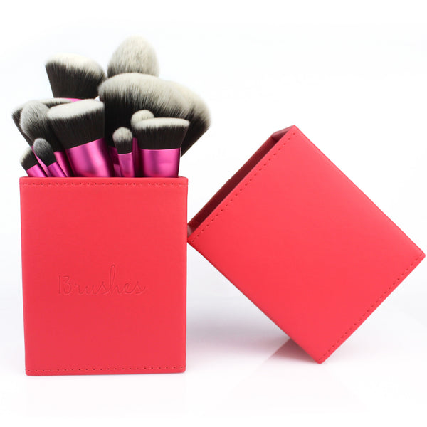 Coral Magnetficent brush holder (Large) - 13rushes - Singapore's best makeup brushes