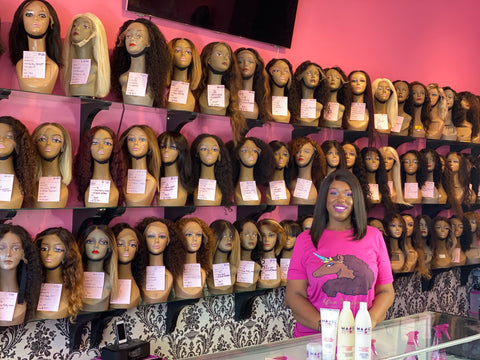 magic hair company owner janiece russell inside wig store in culver city california