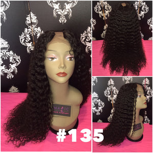 "22"", U-Part, Curly , Full Lace"