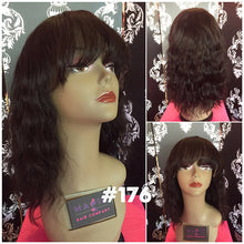 "14"" Body wave, Front Lace, M, Bangs"