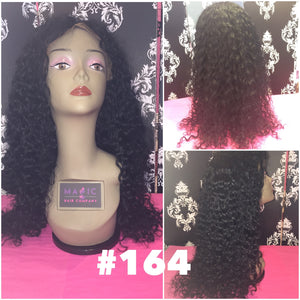 "22"", curly, full lace, #1 jet black"
