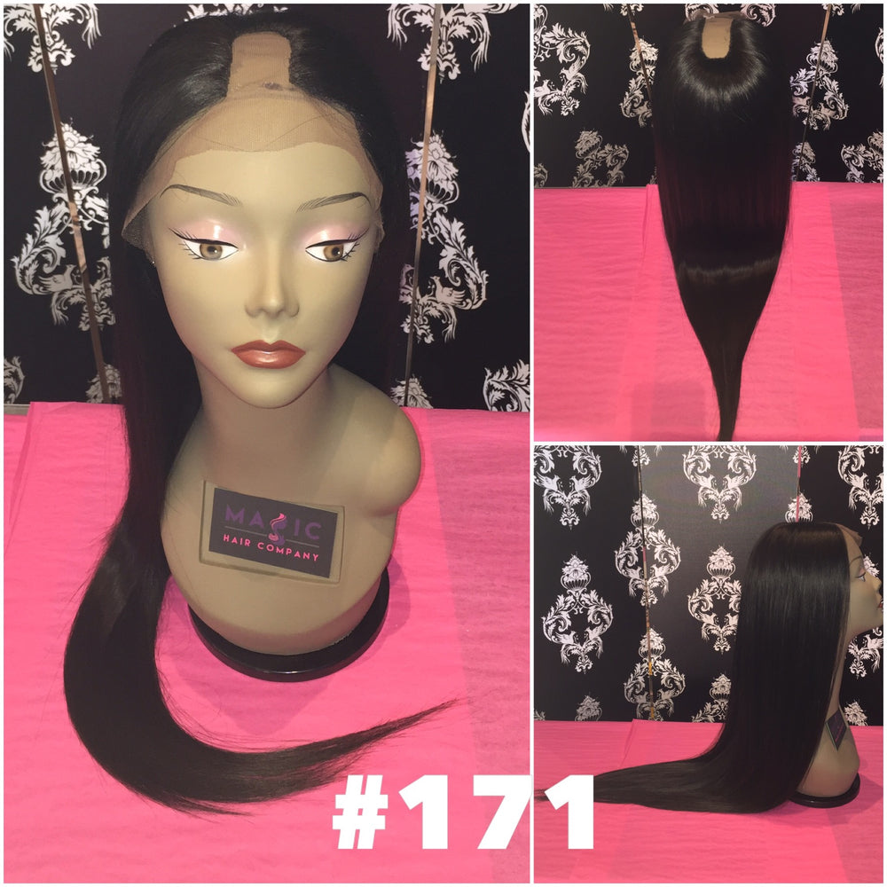 "22"", Silky Straight, u-part, full lace, small cap"