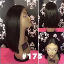 "Load image into Gallery viewer, 14"" Silky Straight, front lace, middle part"