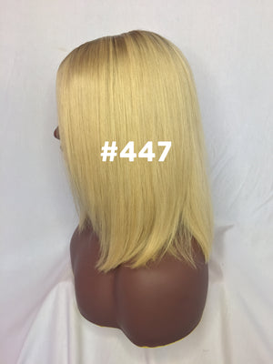 "12"", Silky Straight, blonde, front lace"