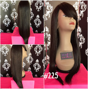 "20"", Silky Straight, Bangs"